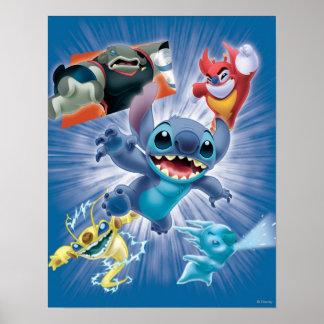Stitch and Friends Print