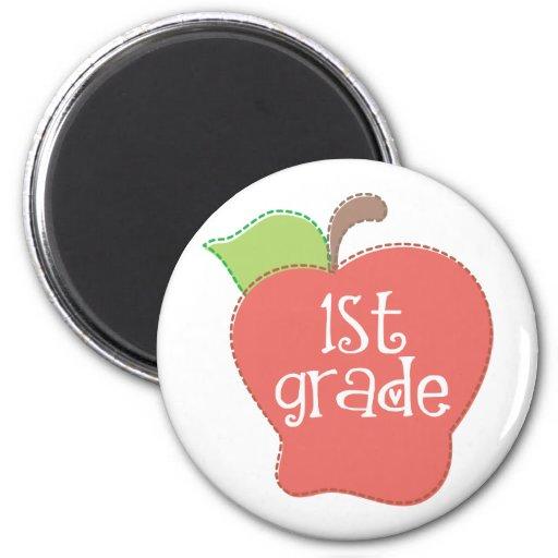 Stitch Apple 1st grade 2 Inch Round Magnet