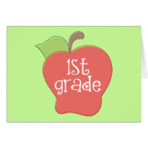 Stitch Apple 1st grade Card