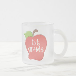 Stitch Apple 1st grade Frosted Glass Coffee Mug