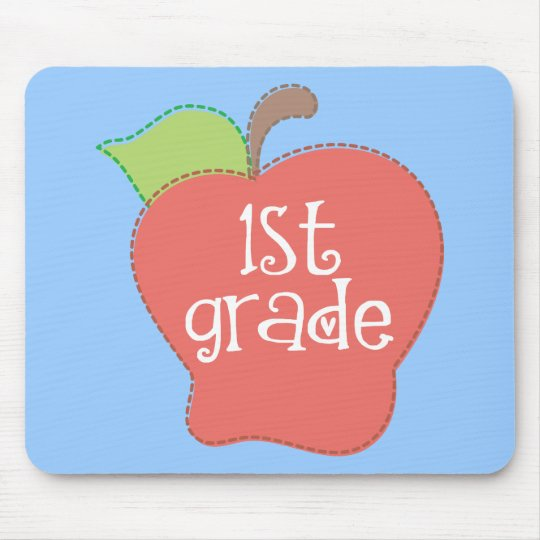 Stitch Apple 1st grade Mouse Pad