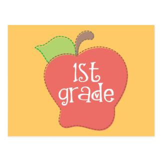 Stitch Apple 1st grade Postcard