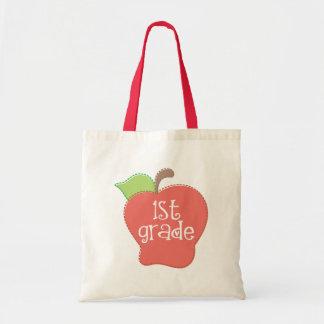 Stitch Apple 1st grade Tote Bag