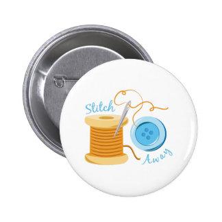 Stitch Away Pinback Button
