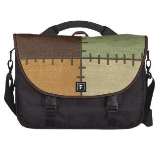 Stitch Blocks Print Laptop Bag