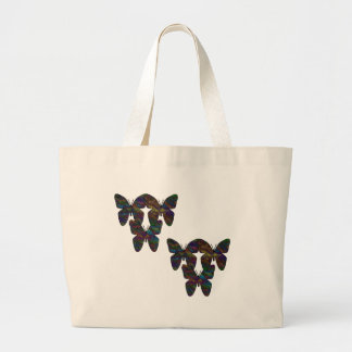 Stitch Butterflies Large Tote Bag