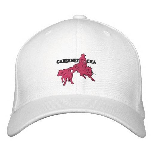 Stitch Cabernet CHA Blanc Casquette Rose Embroidered Baseball Cap
