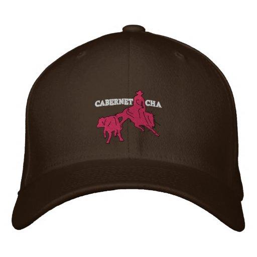 Stitch Cabernet CHA Marron Casquette Rose Embroidered Baseball Cap