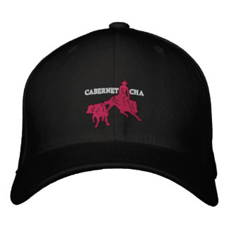 Stitch Cabernet CHA Noir Casquette Rose Embroidered Hat
