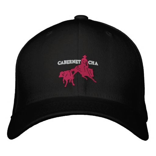 Stitch Cabernet CHA Noir Casquette Rose Embroidered Hat