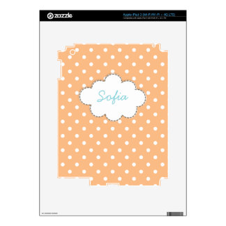 Stitch Cloud Name Polka Dots Pattern iPad 3 Skins