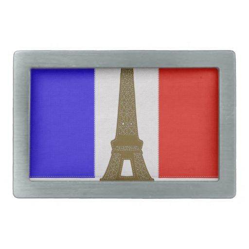 Stitch Eiffel Tower Belt Buckle