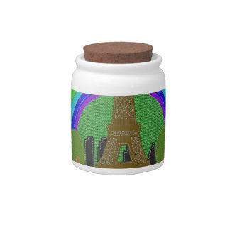 Stitch Eiffel Tower Candy Dishes