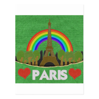 Stitch Eiffel Tower Postcard
