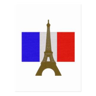Stitch Eiffel Tower Post Card