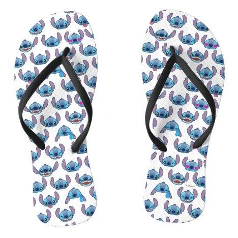 Stitch Emoji Pattern Flip Flops