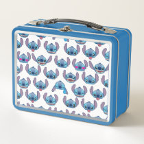 Stitch Emoji Pattern Metal Lunch Box