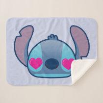 Stitch Emoji Sherpa Blanket