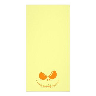 Stitch Face Jack-O-Lantern Card