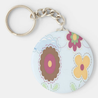 Stitch flowers design key chain