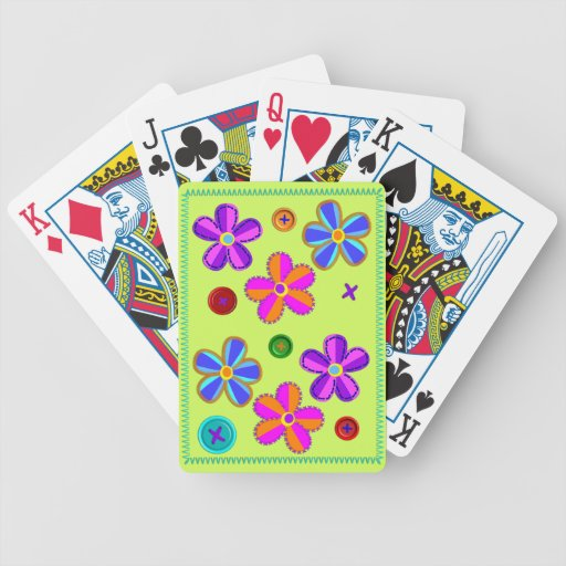 Stitch Flowers Bicycle Card Deck