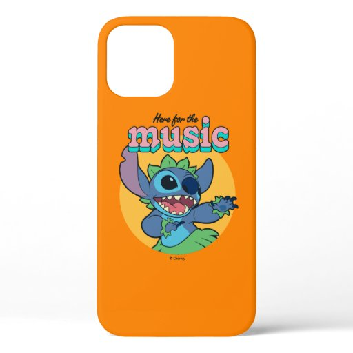 Stitch | Here for the Music iPhone 12 Case