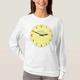 Stitch in time saves 9 - T-shirt cross stitch edge