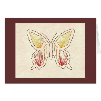 STITCHED BUTTERFLY GREETING CARD