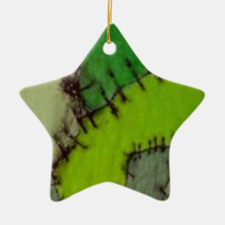stitched christmas tree ornament
