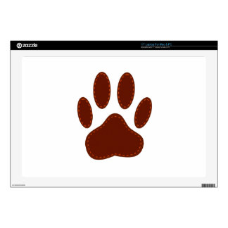 """Stitched Felt Dog Paw Print Decals For 17"""" Laptops"""