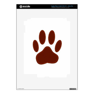 Stitched Felt Dog Paw Print Decal For iPad 3
