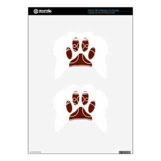 Stitched Felt Dog Paw Print Xbox 360 Controller Skins