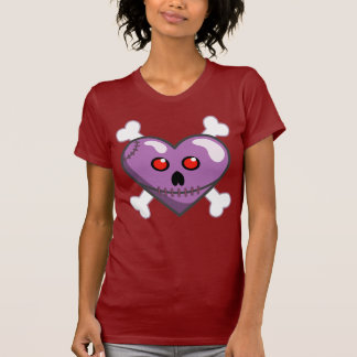 Stitched Heart and Crossbones Vector Art Shirt