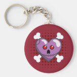 Stitched Heart  Creepy and Cute Keychain