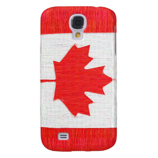 Stitched Look Canadian Flag - Threads! Galaxy S4 Covers