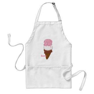 Stitched-Neapolitan-Ice-Cream-Cones-2-APRON Adult Apron