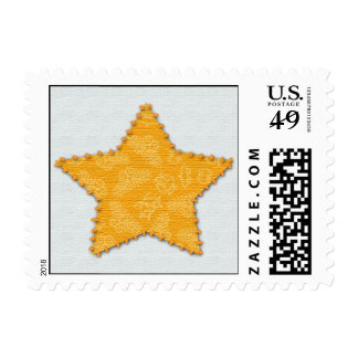 Stitched star postage stamps