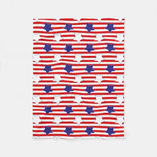 Stitched Stars and Stripes Fleece Blanket