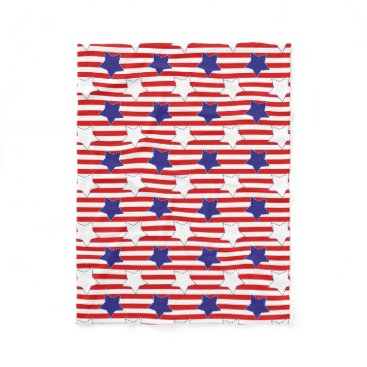 Sugarcoating Stitched Stars and Stripes Fleece Blanket
