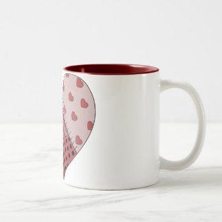 Stitched Together Patchwork Heart Mug