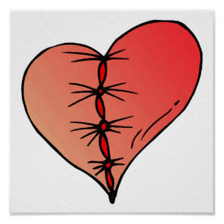 stitched up heart posters