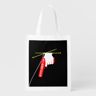 Stitched Up Knitted Gun Reusable Grocery Bags