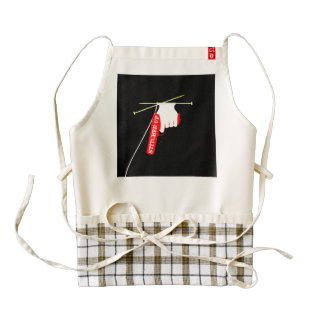 Stitched Up Knitted Gun Zazzle HEART Apron