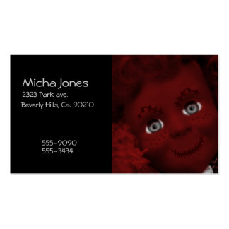 Stitched Up Psycho Living Dead Doll Business Cards