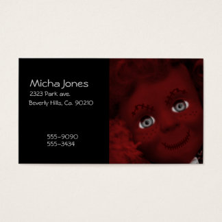 Stitched Up Psycho Living Dead Doll Business Card
