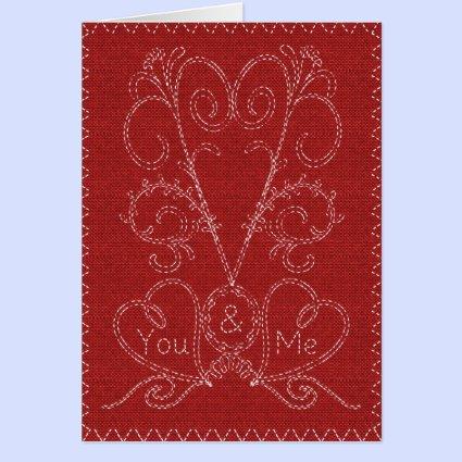 Stitched Valentine Cards