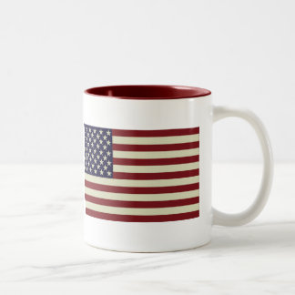 Stitched Vintage Flag Mug