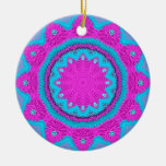 Stitchery rosado/azul 1 ornamento para arbol de navidad