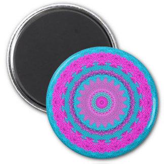 Stitchery rosado/azul 3 imán redondo 5 cm