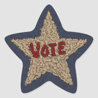 Stitchery Star - Vote Star Sticker